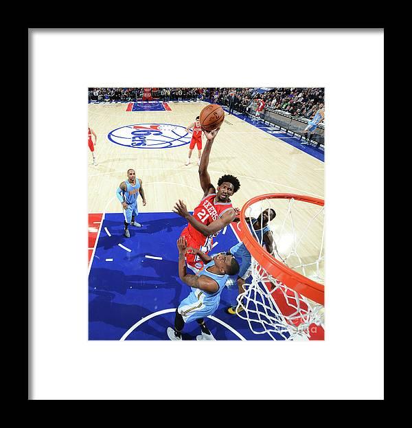 Nba Pro Basketball Framed Print featuring the photograph Philadelphia 76ers V Denver Nuggets 3 by Jesse D. Garrabrant