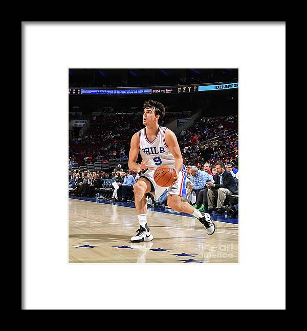 Nba Pro Basketball Framed Print featuring the photograph Philadelphia 76ers V Utah Jazz by Jesse D. Garrabrant