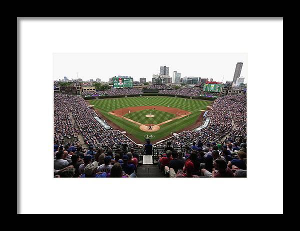 American League Baseball Framed Print featuring the photograph Philadelphia Phillies V Chicago Cubs by Jonathan Daniel