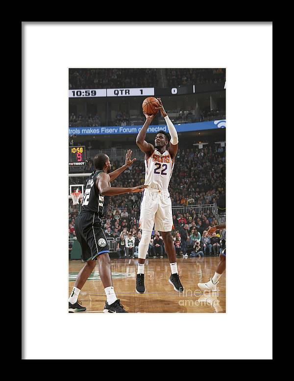 Nba Pro Basketball Framed Print featuring the photograph Phoenix Suns V Milwaukee Bucks by Gary Dineen