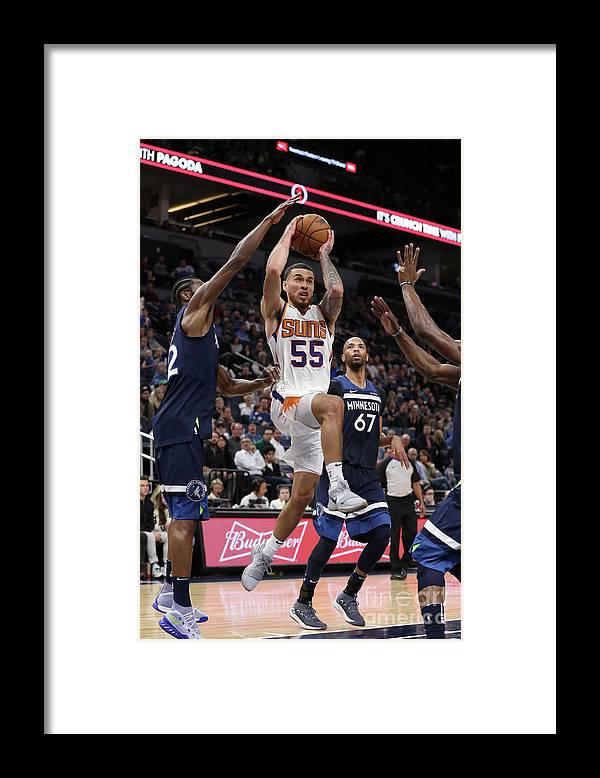 Nba Pro Basketball Framed Print featuring the photograph Phoenix Suns V Minnesota Timberwolves by Jordan Johnson