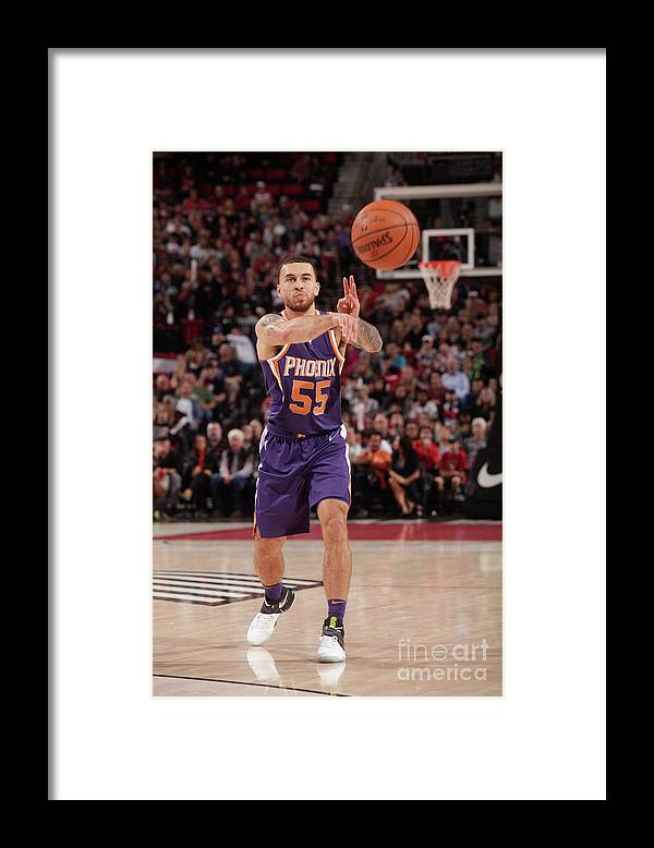 Nba Pro Basketball Framed Print featuring the photograph Phoenix Suns V Portland Trail Blazers by Cameron Browne