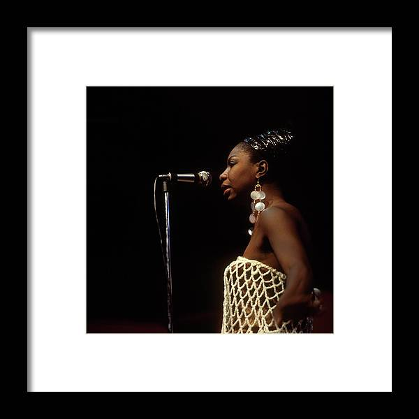 Nina Simone Framed Print featuring the photograph Photo Of Nina Simone by David Redfern