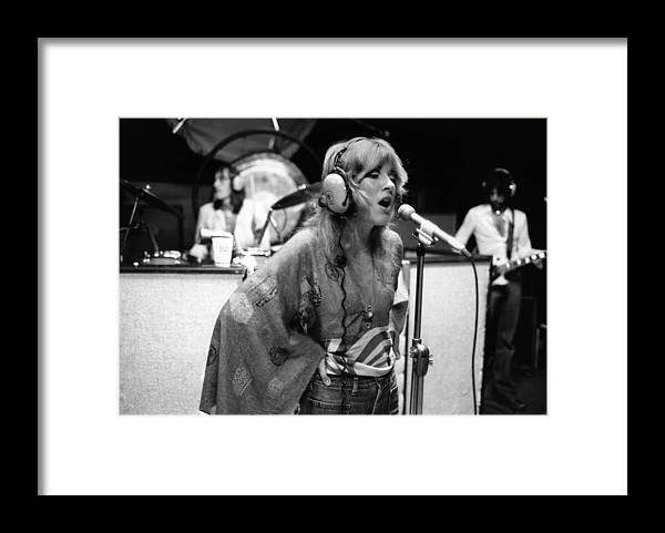 Music Framed Print featuring the photograph Photo Of Stevie Nicks And Fleetwood Mac by Fin Costello