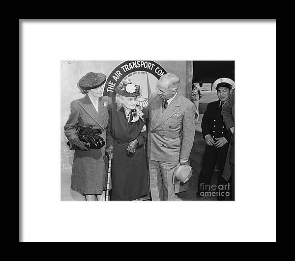 Mature Adult Framed Print featuring the photograph President Harry S. Truman by Bettmann