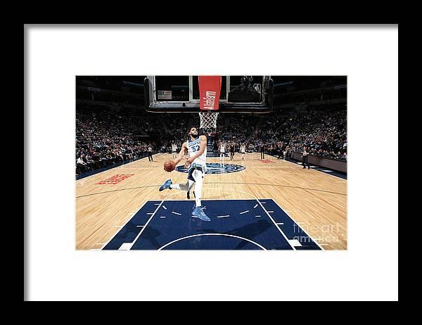 Nba Pro Basketball Framed Print featuring the photograph Sacramento Kings V Minnesota by David Sherman