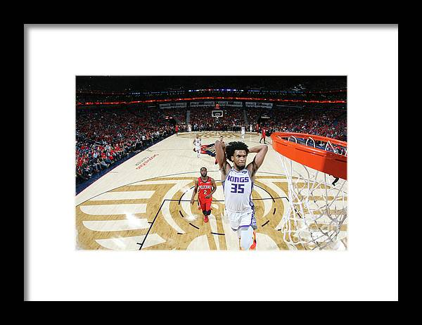 Smoothie King Center Framed Print featuring the photograph Sacramento Kings V New Orleans Pelicans by Layne Murdoch Jr.