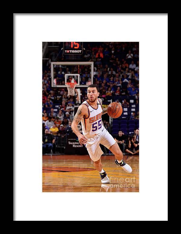 Nba Pro Basketball Framed Print featuring the photograph Sacramento Kings V Phoenix Suns by Barry Gossage