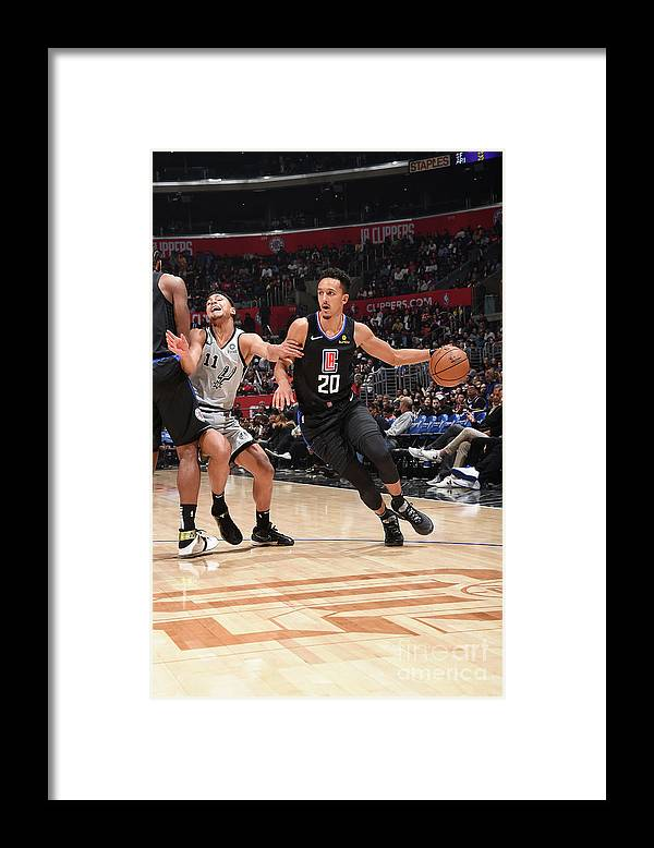 Nba Pro Basketball Framed Print featuring the photograph San Antonio Spurs V La Clippers by Adam Pantozzi