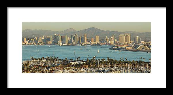 Downtown District Framed Print featuring the photograph San Diego Skyline by S. Greg Panosian