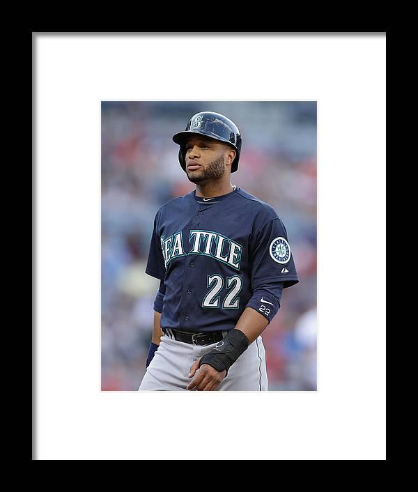 Atlanta Framed Print featuring the photograph Seattle Mariners V Atlanta Braves by Mike Zarrilli