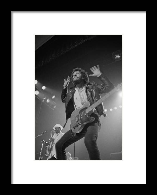 Bruce Springsteen Framed Print featuring the photograph Springsteen Live In New Jersey by Fin Costello