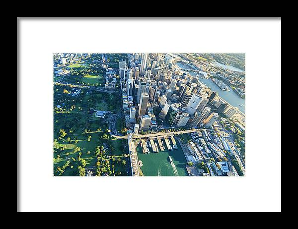 Shadow Framed Print featuring the photograph Sydney Downtown - Aerial View by Btrenkel