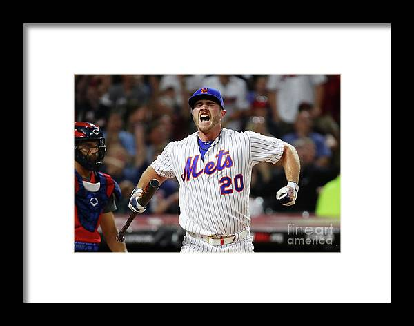 People Framed Print featuring the photograph T-mobile Home Run Derby by Gregory Shamus