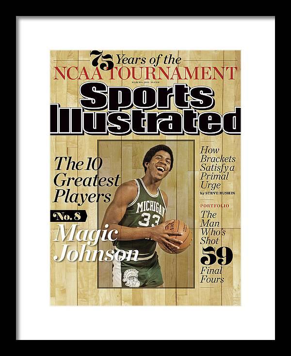 Point Guard Framed Print featuring the photograph The 10 Greatest Players 75 Years Of The Tournament Sports Illustrated Cover by Sports Illustrated