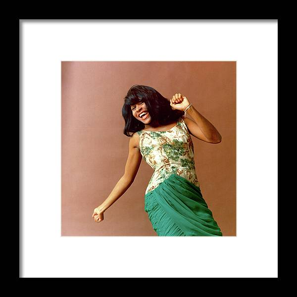 People Framed Print featuring the photograph Tina Turner Portrait Session by Michael Ochs Archives