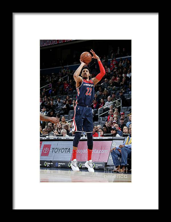 Nba Pro Basketball Framed Print featuring the photograph Toronto Raptors V Washington Wizards by Stephen Gosling