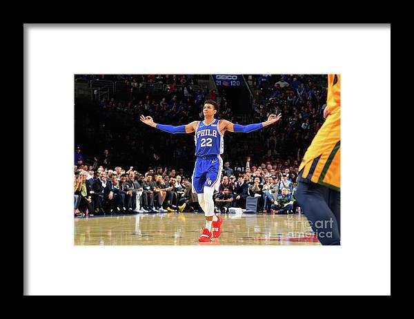 Nba Pro Basketball Framed Print featuring the photograph Utah Jazz V Philadelphia 76ers by Jesse D. Garrabrant