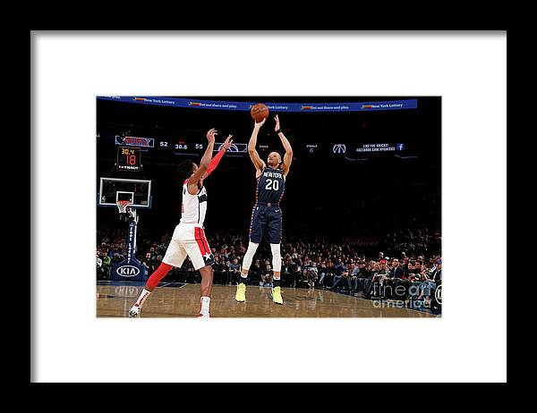Nba Pro Basketball Framed Print featuring the photograph Washington Wizards V New York Knicks by Nathaniel S. Butler