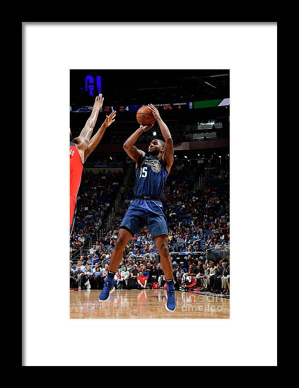 Nba Pro Basketball Framed Print featuring the photograph Washington Wizards V Orlando Magic by Fernando Medina