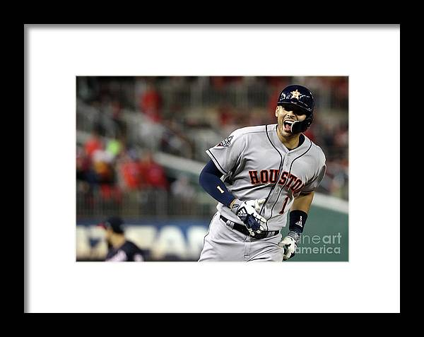 Three Quarter Length Framed Print featuring the photograph World Series - Houston Astros V 3 by Patrick Smith
