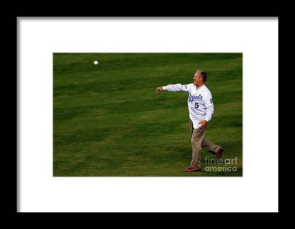 Game Two Framed Print featuring the photograph World Series - San Francisco Giants V 3 by Ed Zurga