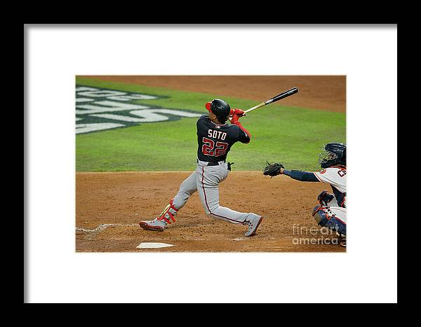 American League Baseball Framed Print featuring the photograph World Series - Washington Nationals V 3 by Bob Levey
