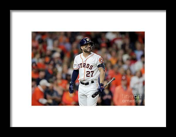 American League Baseball Framed Print featuring the photograph World Series - Washington Nationals V 3 by Elsa