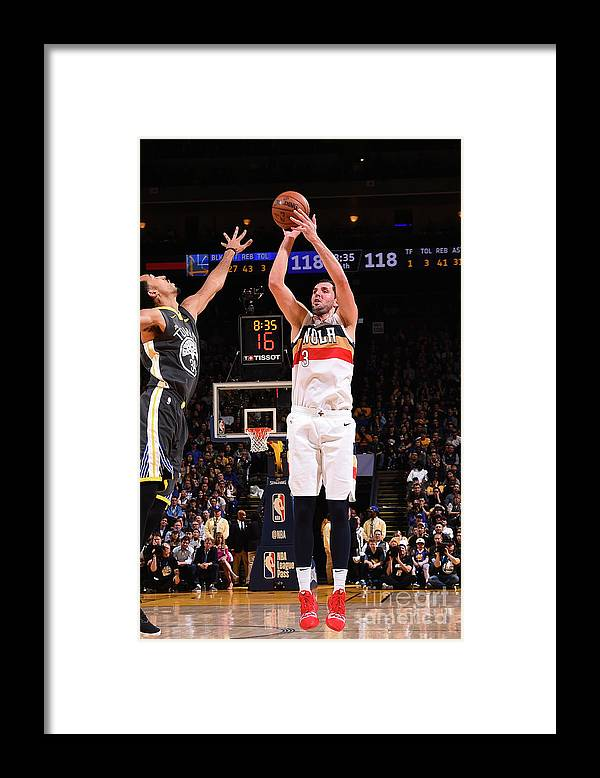 Nba Pro Basketball Framed Print featuring the photograph New Orleans Pelicans V Golden State by Noah Graham