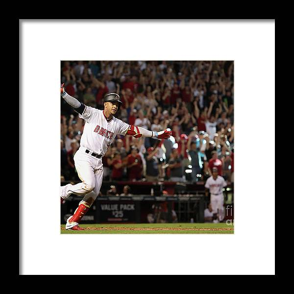 Ninth Inning Framed Print featuring the photograph Colorado Rockies V Arizona Diamondbacks by Christian Petersen