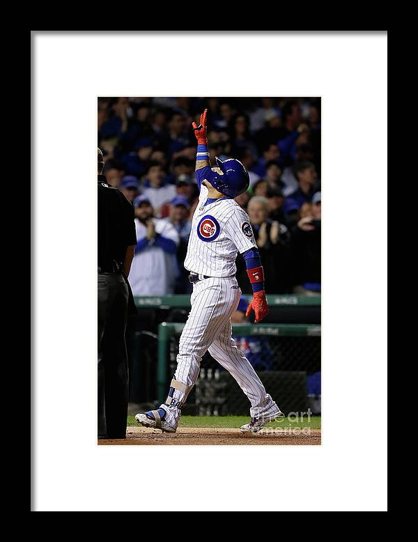 Championship Framed Print featuring the photograph League Championship Series - Los by Jamie Squire