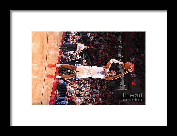 Nba Pro Basketball Framed Print featuring the photograph Oklahoma City Thunder V Houston Rockets by Bill Baptist