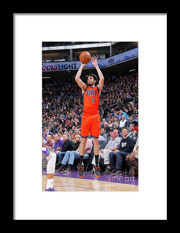 Nba Pro Basketball Framed Print featuring the photograph Oklahoma City Thunder V Sacramento Kings by Rocky Widner