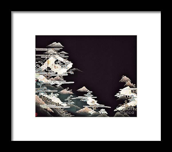 Framed Print featuring the digital art Spirit of Japan T54 by Miho Kanamori