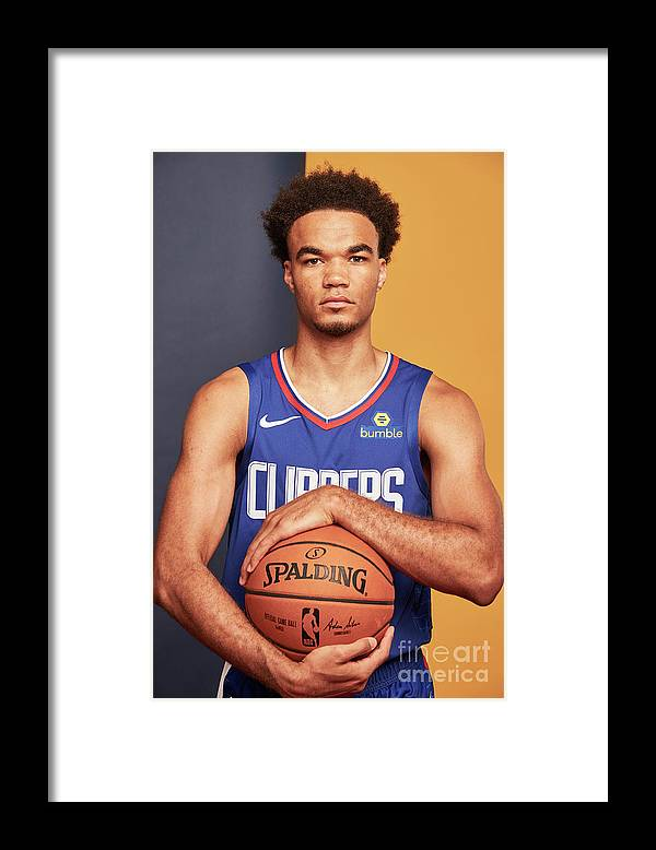 Jerome Robinson Framed Print featuring the photograph 2018 Nba Rookie Photo Shoot by Jennifer Pottheiser