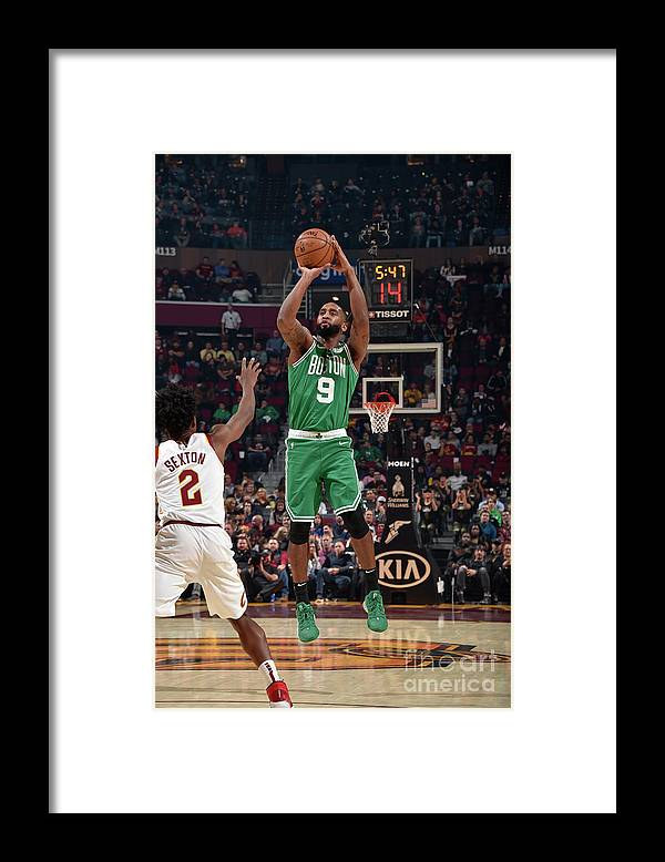 Nba Pro Basketball Framed Print featuring the photograph Boston Celtics V Cleveland Cavaliers by David Liam Kyle