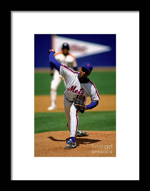 Dwight Gooden Framed Print featuring the photograph Mlb Photos Archive 32 by Mlb Photos
