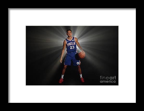 Nba Pro Basketball Framed Print featuring the photograph 2018 Nba Rookie Photo Shoot by Jesse D. Garrabrant