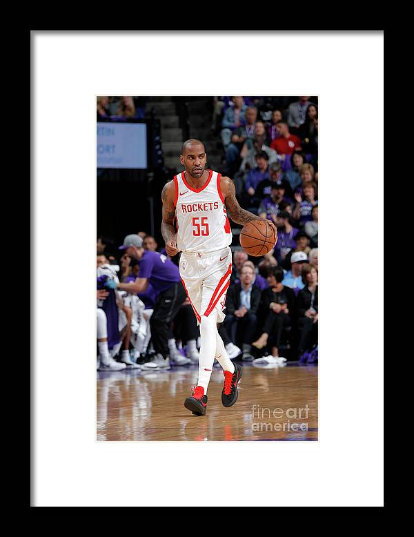 Nba Pro Basketball Framed Print featuring the photograph Houston Rockets V Sacramento Kings by Rocky Widner