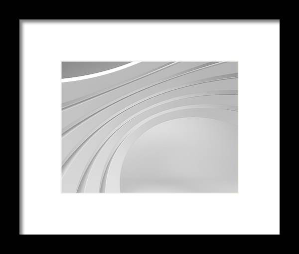 Arch Framed Print featuring the photograph 3d Abstract Architecture Background by Me4o