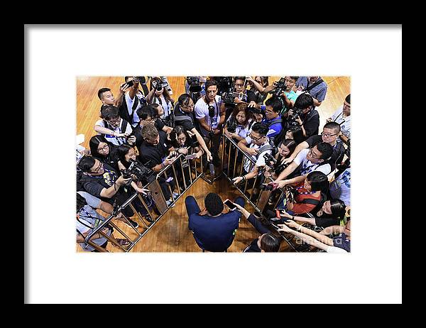 Event Framed Print featuring the photograph 2017 Nba Global Games - China by David Dow