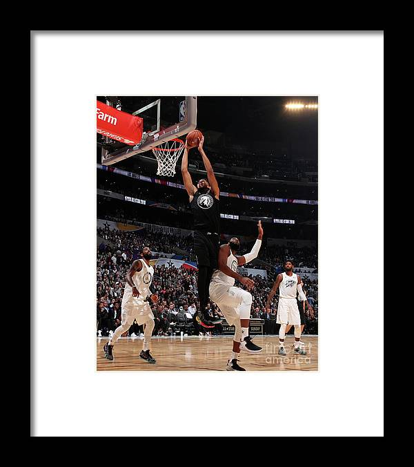 Nba Pro Basketball Framed Print featuring the photograph 2018 Nba All-star Game by Nathaniel S. Butler