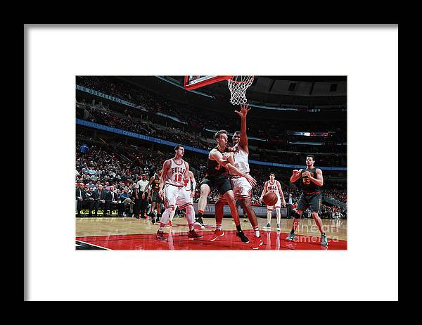 Nba Pro Basketball Framed Print featuring the photograph Atlanta Hawks V Chicago Bulls by Jeff Haynes