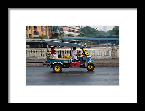 People Framed Print featuring the photograph Bangkok, Thailand by Latitudestock - Kavch Dadfar