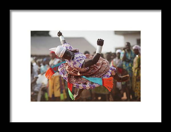 Performance Framed Print featuring the photograph Benins Mysterious Voodoo Religion Is by Dan Kitwood