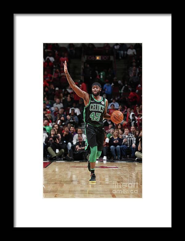 Nba Pro Basketball Framed Print featuring the photograph Boston Celtics V Chicago Bulls by Gary Dineen