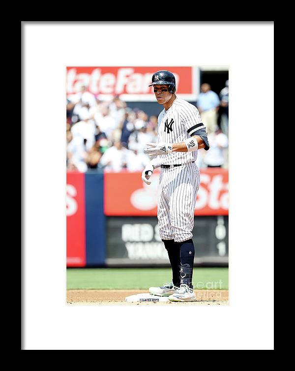 People Framed Print featuring the photograph Boston Red Sox V New York Yankees - 4 by Elsa