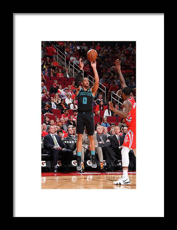 Nba Pro Basketball Framed Print featuring the photograph Charlotte Hornets V Houston Rockets by Bill Baptist