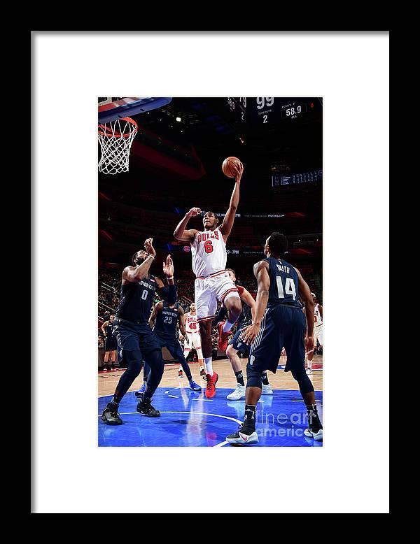 Nba Pro Basketball Framed Print featuring the photograph Chicago Bulls V Detroit Pistons by Chris Schwegler