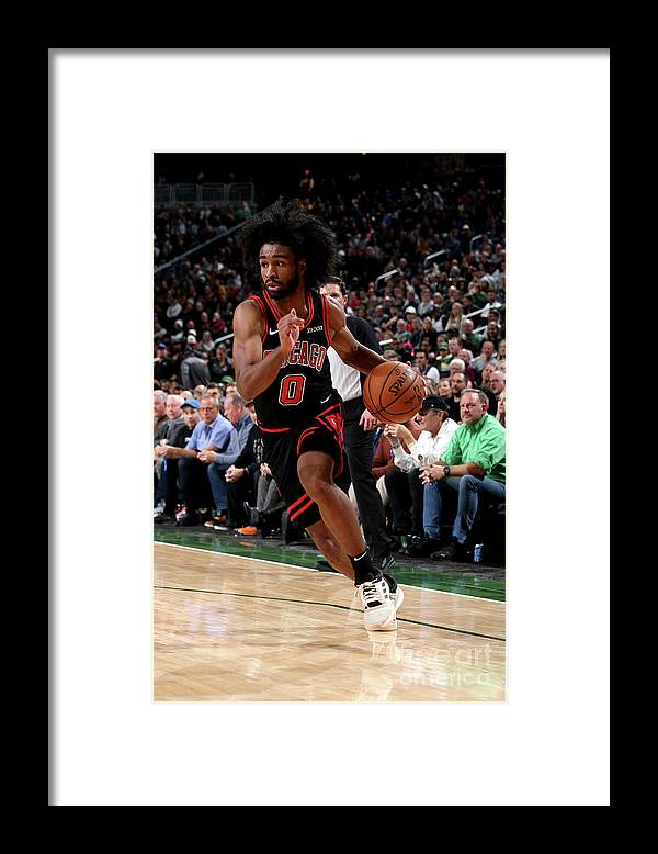 Coby White Framed Print featuring the photograph Chicago Bulls V Milwaukee Bucks by Gary Dineen